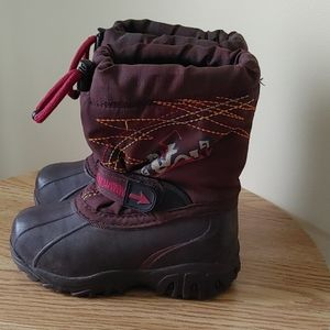 Acton kids winter snow boots brown size 11Y